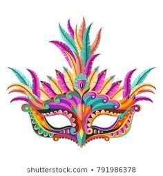 Happy carnival festive concept with musical trumpet mask. Fancy Dress Masks, Classroom Crafts, Illustrations, Diy Mask, Halloween Masks, Mask For Kids, Masquerade, Decoration, Musicals