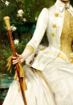 Portrait of Mrs Lockett Agnew, Detail. by Sir Samuel Luke Fildes