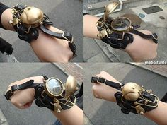 Steampunk watch with cover.