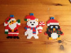 Cute Christmas Perler Beads #PerlerBeads #christmas