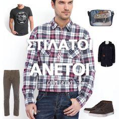 Στιλάτοι και άνετοι όλη την ημέρα Button Down Shirt, Men Casual, Mens Tops, Shirts, Fashion, Moda, Dress Shirt, Fashion Styles, Dress Shirts