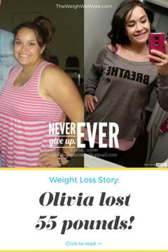Olivia Lost 55 Pounds - Read her inspirational transformation story and meal prep tips. Motivational before and after fitness success stories from men and women who hit their weight loss goals with training and dedication. | TheWeighWeWere.com