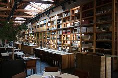 Barcelona: Restaurant / Cuines Santa-Caterina. Located inside the actual Mercat de Santa Catarina