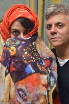 """Susy Lauda e Dino Abbrescia  Progetto """"Cinema Gift Room"""" in occasione dell' VIII Festival Internazionale del Film di Roma."""