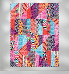 All About Strips: simple quilt by Susan Guzman