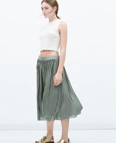 ACCORDION PLEAT SKIRT-Skirts-TRF | ZARA United States