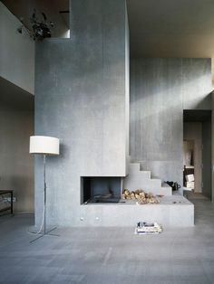 Living Room With A Concrete Wall » Coco Lapine Designcoco Lapine Enchanting Cement Showcase Designs Living Room Design Inspiration
