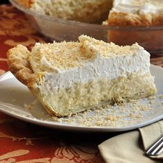 Coconut Cream Pie--a recipe handed down for generations (it has to be good!)