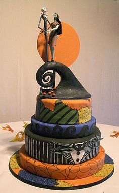 this is exactly what i want <3 #halloween #wedding cake  halloween wedding cake