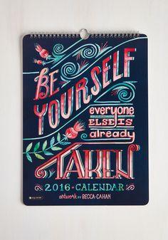 Day, Month, Cheer 2016 Wall Calendar