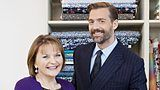 The Great British Sewing Bee judges, May Martin & Patrick Grant. #sewingbee #gbsb #sewingmachine #vintage #craft