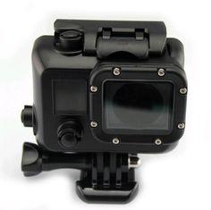 Black housing waterproof case + Mount adapter For Gopro Hero 3/3+/4 - free shipping worldwide