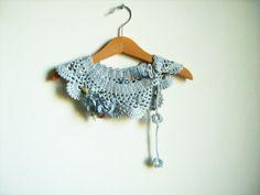 Cotton Collar Necklace Cotton crochet Peter Pan by NMNHANDMADE, $29.00