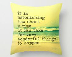 Quote Pillow | Beach Pillow | Throw Pillow Cover Decorative  | Beach House| Beach4Good } 30A Beach