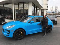 We knew this wouldn't be around long! Congratulations to the new owner of the Riveria Blue Porsche Macan GTS!