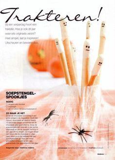 Gezonde traktaties - oa Soepstengel spookjes | Styling: TanteSjies.nl | Pics: Hadewych Veijs | Bron: Kinderen