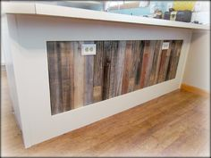 Kitchen Island Knee Wall pallet and reclaimed wood decoration for a contemporary house