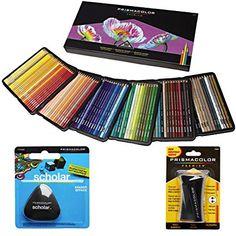 Prismacolor Buntstifte, Box von 150verschiedene Farben, dreieckig Scholar Radierstift und PREMIER Anspitzer