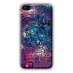 Panic AT The Disco (lyric scrawl) iPhone 6 i6 Case found on Polyvore featuring accessories, tech accessories and phone case