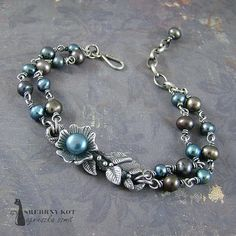 Paradise Apple Tree Bracelet / bransoletka 'Rajska jabłoń' - art clay silver