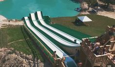 It Looks Like An Ordinary Waterslide, But What's At The Bottom Will Make Your Heart Race…
