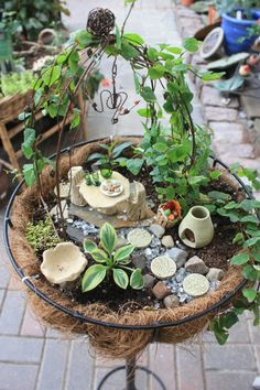 Fairy gardens and miniature landscapes...   Lots of great stuff on this site!
