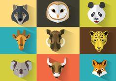 wild-animal-vector-portraits.jpg (800×560)