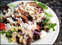 Del•ic•ious Greek Salad, inspired by the Med Salad from Noodles & Co.