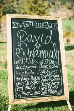 cutest chalkboard wedding sign