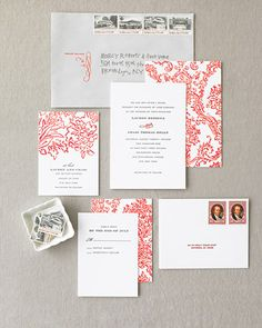 Red Wedding Invitation