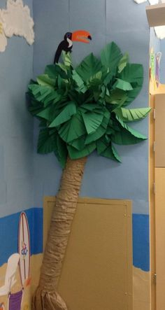 Paper palm tree for the school