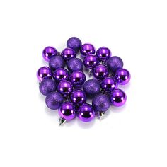 DIY 24Pcs Candy Color Plastic Christmas Tree Jewelry Ornament Balls ($5.39) ❤ liked on Polyvore featuring home, home decor, holiday decorations, purple, xmas ball ornaments, christmas tree ball ornaments, purple christmas tree ornaments, christmas holiday decor and purple ornaments