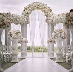 ideas for wedding arch white flowers ceremony decorations Ceremony Arch, Outdoor Ceremony, Wedding Ceremony, Wedding Arches, Wedding Church, Table Wedding, Party Wedding, Wedding Bride, White Wedding Arch