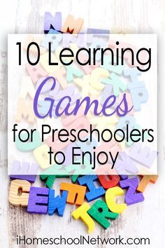 10 Learning Games for Preschoolers to Enjoyre