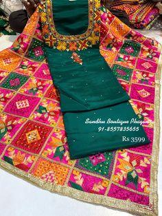 Latest Punjabi Suits Design, Punjabi Suits Party Wear, Punjabi Suit Boutique, Punjabi Bride, Indian Suits, Embroidery Designs, Girl Fashion, Kurtis, Stylish