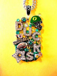 University Of Oregon Ducks Dog Tag Pendant Number by BradosBling, $39.99