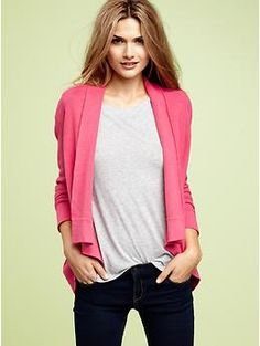 $44.95 Gap Shawl-collar cardigan in light pink