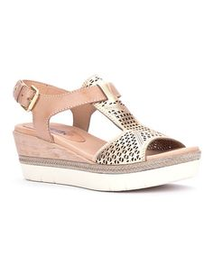 This Nude Madeira Leather Sandal - Women is perfect! #zulilyfinds