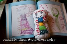 The Mother Lode: Child's art turned softie   teaching children to hand sew with their own art work