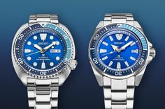 Introducing – Seiko Prospex Turtle SRPB11 and Samurai SRPB09 Blue Lagoon Limited Editions