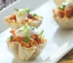 Mini Buffalo Chicken cups. Made these before.  They are fanstastic!