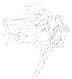 Peter and Wendy flying. by ~NadzomiViro on deviantART