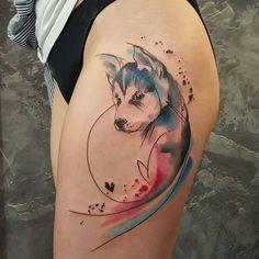 Tattoo done by @simona.blanar ----- ----- ----- ----- ------ ------ ------ ------  #wolf #lobo #huskylove #husky #myhusky #doglovers #mytattoo #huskies #lovedog #doglover #mydogs #mydog #doglovers #huskylove #anchortattoo #loveanimals #lovedogsforever #dogs #doggy #puppygram #puppies #puppy #cachorro