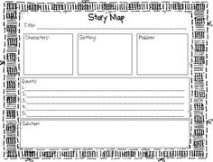 Story Map Template   Graphic Organizers     Story