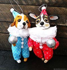 Купить Собачка в комбинезоне - ватная игрушка в интернет магазине на Ярмарке Мастеров