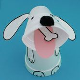 """""""Give a Dog a Bone"""" Foam Cup Dog Craft and Math Learning Activity for Preschool"""