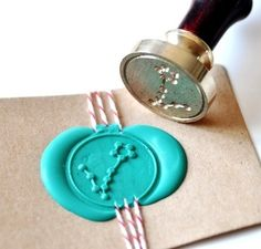 Pisces Gold Plated Wax Seal Stamp & Sealing Wax