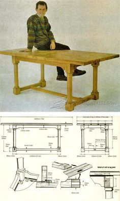 Country Table Plans - Furniture Plans and Projects | WoodArchivist.com