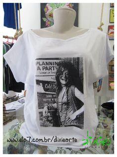 Blusa Gola Canoa - Janis Joplin R$45,00