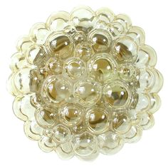 Amber Bubble Glass Flush Mount Sconce by Helena Tynell for Limburg 1960s | 1stdibs.com